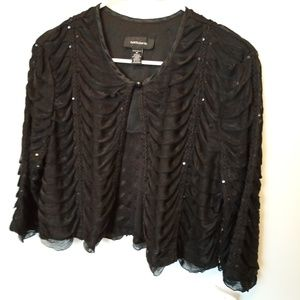 Jackets & Blazers - R&M Richards Ruffled Bolero Jacket